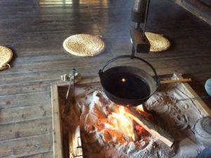 古民家の囲炉裏
